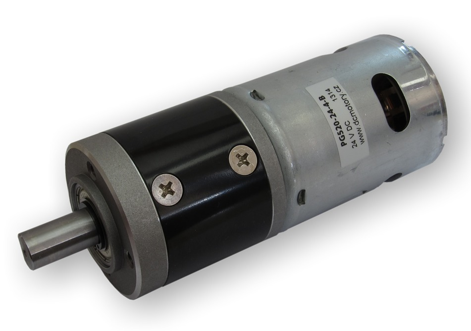 Dc motor series pg520 with planetary gearbox for Dc planetary gear motor